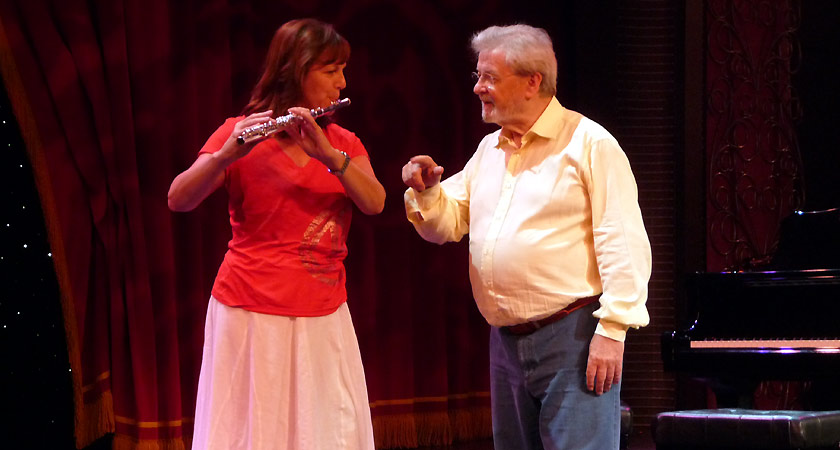 Sir James Galway and Louise Garner