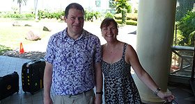 Meeting up with Simon Weale in Fiji