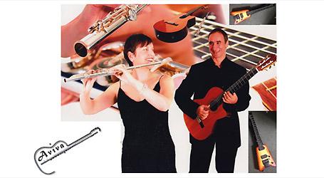 Aviva: Sam Piha (guitar) and Louise Garner (flute)