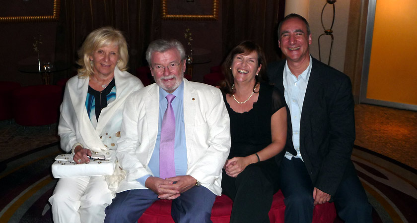 Sir James and Lady Jeanne Galway with Sam and Louise